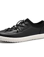 preiswerte -Herrn Schuhe PU Frühling Herbst Komfort Sneakers für Draussen Weiß Schwarz Braun