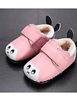 Недорогие -Дети обувь Кожа Весна Осень Удобная обувь Обувь для малышей На плокой подошве для Повседневные Красный Розовый