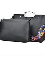 cheap -Women Bags PU Bag Set 2 Pieces Purse Set Zipper for Casual Outdoor Winter Fall Gray Red Black Blue
