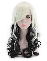 cheap -Cosplay Black&White Wig New Fashion Party Wig Costume Cosplay Long Wave Heat Resstant Wigs