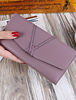 cheap -Women's Bags PU Wallet Buttons Pattern / Print for Event/Party Shopping All Seasons Black Red Blushing Pink Gray Purple