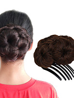 cheap -Medium Brown/Medium Auburn Black Strawberry Blonde/Medium Auburn Dark Brown/Dark Auburn Dark Wine Hair Bun Updo chignons Drawstring