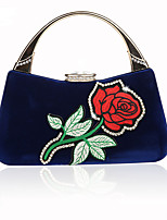 cheap -Women's Ladies' Bags Velvet Tote Appliques for Wedding Event/Party All Season Fuchsia Almond Red Orange Black