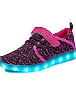 Недорогие -Девочки обувь Материал на заказ клиента Тюль Весна Лето Удобная обувь Обувь с подсветкой Спортивная обувь Беговая обувь Комбинация