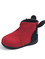 cheap -Girls' Shoes Leatherette Spring Fall Comfort Bootie Boots for Casual Red Yellow Black