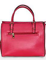 cheap -Women Bags Cowhide Tote Zipper for Casual All Season Sky Blue Red Black