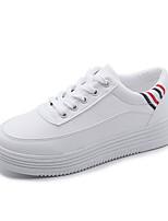 cheap -Women's Shoes PU Winter Fall Comfort Sneakers Flat for Casual Green Yellow White