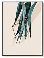 Недорогие -Масляные картины Предметы искусства,Полистирен материал с рамкой For Украшение дома Предметы искусства в рамках В помещении