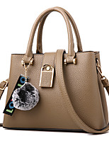 cheap -Women Bags PU Shoulder Bag Zipper for Event/Party Casual Formal Office & Career All Season Spring Khaki Wine Purple Blushing Pink Orange
