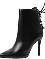 cheap -Women's Shoes Synthetic Winter Fall Cowboy / Western Boots Fashion Boots Combat Boots Boots Stiletto Heel Pointed Toe Booties/Ankle Boots
