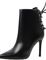 baratos -Sapatos Sintético Inverno Outono Botas Cowboy/Country Botas da Moda Coturnos Botas Salto Agulha Botas Curtas / Ankle para Social Festas &