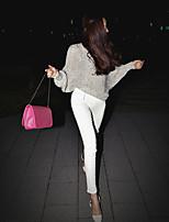 preiswerte -Damen Retro Undurchsichtig Baumwolle Solide Einfarbig Legging,Weiß Schwarz