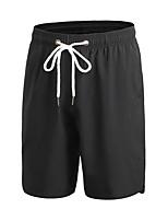 baratos -Homens Shorts de Corrida Respirabilidade Shorts Exercício e Atividade Física Exercicio Exterior Corrida Poliéster Branco Preto Azul S M L