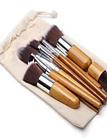 cheap -11pcs Foundation Brush Powder Brush Eyelash Comb (Flat) Eyeliner Brush Lip Brush Eyeshadow Brush Blush Brush Makeup Brush Set Nylon