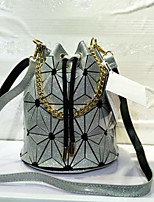 cheap -Women's Bags PU Shoulder Bag Pockets for Casual All Seasons Fuchsia Blushing Pink Silver Black Gold