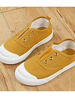 cheap -Girls' Shoes Canvas Spring Fall Comfort Sneakers for Casual White Black Yellow Red Blue