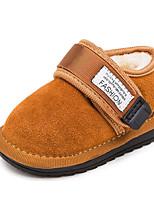 Недорогие -Девочки обувь Нубук Весна Осень Удобная обувь Обувь для малышей Ботинки Ботинки для Повседневные Черный Серый Коричневый Розовый