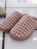 Недорогие -Универсальные Обувь Ткань Весна Осень Удобная обувь Тапочки и Шлепанцы На низком каблуке для Повседневные Серый Лиловый Персиковый Зеленый