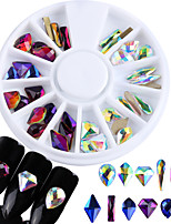 cheap -Glitter Rhinestones Nail Jewelry Fashionable Jewelry Jeweled Sparkle Multi-colored Pattern Nail Art Design