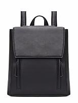 cheap -Women's Bags PU Backpack Pocket for Casual All Seasons Green Black Dark Brown Light Grey