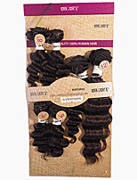 cheap -Brazilian Hair Virgin Human Hair Deep Wave Human Hair Weaves 1pc Hair Weft with Closure