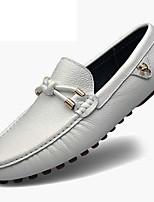 Недорогие -Муж. обувь Наппа Leather Весна Осень Удобная обувь Формальная обувь Мокасины и Свитер для Повседневные Для вечеринки / ужина Белый Черный