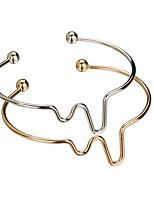 abordables -Femme Manchettes Bracelets , simple Cadeau Alliage Bijoux