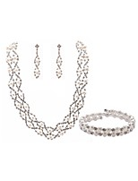 cheap -Women's Bridal Jewelry Sets Strand Bracelet Rhinestone Fashion European Wedding Party Imitation Pearl Imitation Diamond Alloy Body