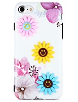 abordables -Funda Para Apple iPhone 7 iPhone 6 Diseños Manualidades Cubierta Trasera Dibujo 3D Flor Suave TPU para iPhone 7 Plus iPhone 7 iPhone 6s
