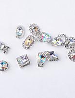 cheap -12PCS Fashion Color Intrigue Alloy Jewel Nail Art Decoration