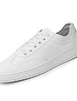 cheap -Men's Shoes PU Spring Fall Comfort Sneakers for Outdoor White