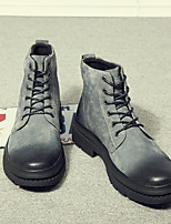Недорогие -Для мужчин обувь Дерматин Зима Осень Армейские ботинки Ботинки Ботинки для Повседневные Черный Серый Военно-зеленный