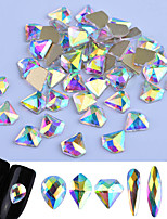 preiswerte -Glitzer Glanz/Glamour Nagel Glitter Zufällige Farben Nagel-Kunst-Design