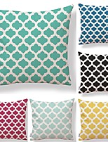 cheap -6 pcs Textile Cotton/Linen Pillow Cover,Polka Dot Plaid/Checkered Geometric