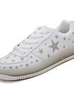 Недорогие -Муж. обувь Полиуретан Зима Осень Удобная обувь Кеды для Повседневные на открытом воздухе Белый Черный Зеленый