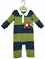 cheap -Baby Boys' Casual/Daily Color Block One-Pieces,Cotton Spring Fall Simple Long Sleeve Army Green