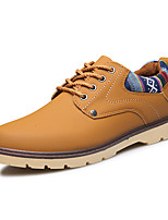 cheap -Men's Shoes PU Spring Fall Comfort Oxfords for Casual Black Yellow Blue