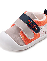 cheap -Baby Shoes PU Spring Fall Comfort First Walkers Sneakers for Casual Red Gray Orange