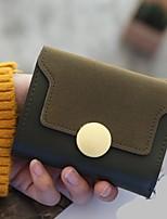 preiswerte -Damen Taschen PU Brieftasche Knöpfe für Normal Alle Jahreszeiten Dunkelgrün
