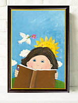 cheap -Cartoon Illustration Wall Art,Aluminum Alloy Material With Frame For Home Decoration Frame Art Indoors
