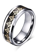 cheap -Men's Band Ring , Vintage Basic Stainless Steel Circle Letter Costume Jewelry Birthday Daily