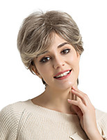 cheap -Human Hair Capless Wigs Human Hair Natural Wave Pixie Cut Side Part Highlighted/Balayage Hair Short Machine Made Wig Women's