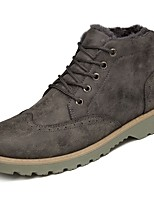 cheap -Men's Shoes Synthetic Microfiber PU Winter Fall Comfort Boots for Casual Army Green Gray Black