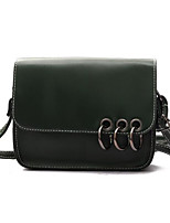cheap -Women's Bags PU Shoulder Bag Buttons for Casual All Seasons Green Black Blushing Pink Wine