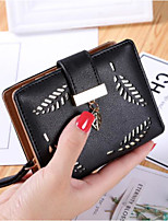 cheap -Women Bags PU Coin Purse Buttons Zipper for Casual All Season Khaki Coffee Blushing Pink Black Blue