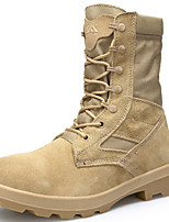 cheap -Men's Shoes Suede Winter Fall Combat Boots Riding Boots Cowboy / Western Boots Boots Hiking Shoes Mid-Calf Boots for Athletic Outdoor