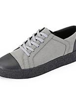 preiswerte -Herrn Schuhe Gummi Frühling Herbst Komfort Sneakers für Draussen Schwarz Grau