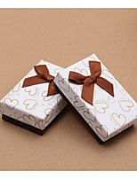 cheap -Cuboid Card Paper Favor Holder with Bow Favor Boxes Gift Boxes Apothecary Candy Jar-10 pcs