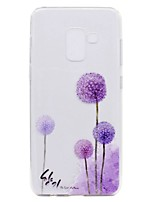 cheap -Case For Samsung Galaxy A8 Plus 2018 A8 2018 Transparent Pattern Back Cover Dandelion Soft TPU for A3(2017) A5(2017) A7(2017) Galaxy A8