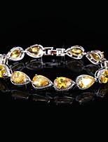 cheap -Women's Bracelet Synthetic Diamond Rhinestone Silver Plated Jewelry Wedding Party Costume Jewelry